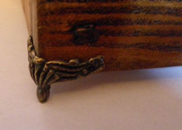 NEW Set of 4 box feet furniture corner foot decoration ornate antique finishC015